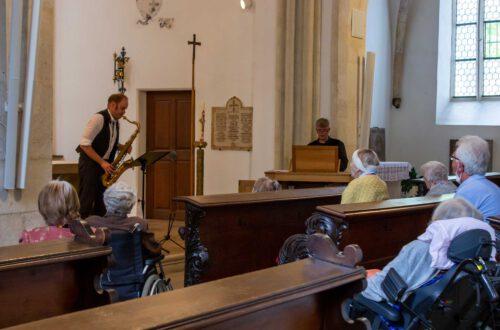 Peter Thoma - Saxophon, Arn Goerke, - Orgel, Foto: Michaela Schmid