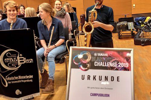 Gewinnübergabe Yamaha Blasorchester Challenge 2019